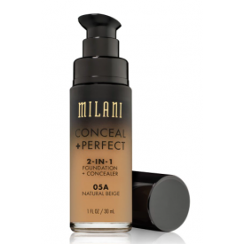 Milani Conceal + Perfect 2-in-1 Foundation + Concealer - Cor 5A Natural Beige
